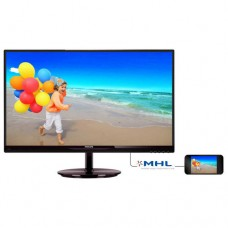 "Philips 27"" IPS Slim LED 1920x1080 FullHD 16:9 5ms 250cd/m2 20 000 000:1 178/178, Speakers, MHL, Glossy black cherry  БЕЗПЛАТНА ДОСТАВКА"