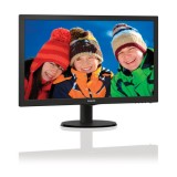 "Philips 21.5"" Slim LED 1920x1080 FullHD 16:9 5ms 200cd/m2 10 000 000:1, VESA, TCO, Piano black  БЕЗПЛАТНА ДОСТАВКА"